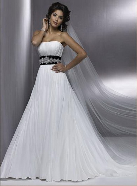 Black and white lace wedding dresses