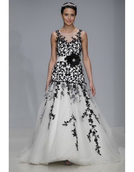 Black and white lace wedding dresses for Black lace wedding dresses