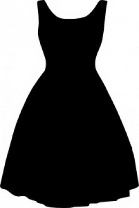 the gallery for gt vintage little black dress clip art
