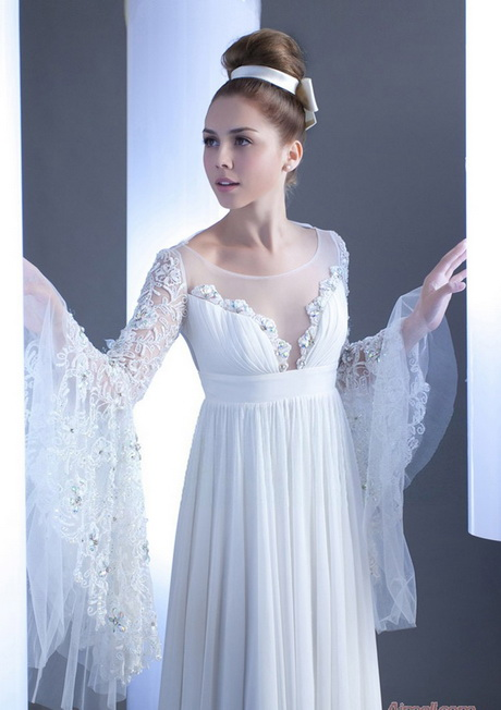 Chiffon long sleeve dress for Long sleeve chiffon wedding dress