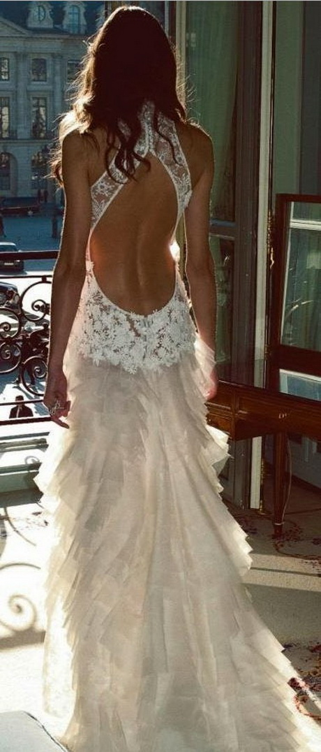 Wedding Dresses Lace Backless : Lace backless wedding dresses