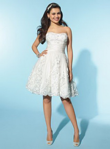 alfred angelo little white dress short destination wedding dress 2155