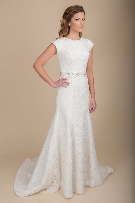 Modest lace wedding dress for Modest wedding dresses under 500
