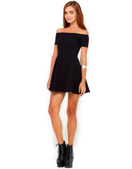 Off The Shoulder Black Dresses