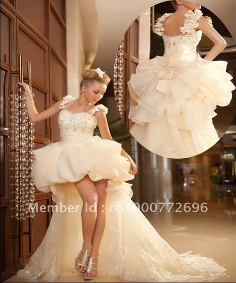 Short Long Wedding Dresses