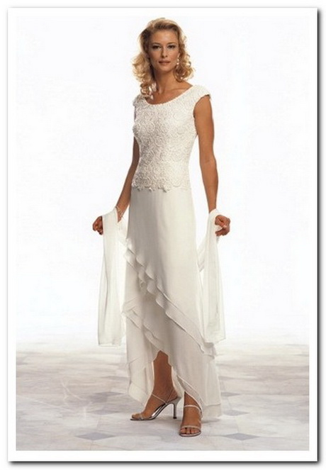 Short wedding dresses for older brides for Wedding dresses for plus size mature brides