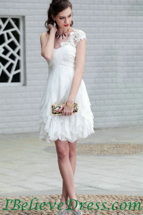White short wedding dress for Short white summer wedding dresses