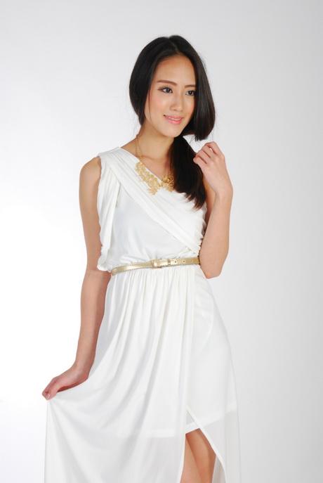 White toga dress for Toga style wedding dress
