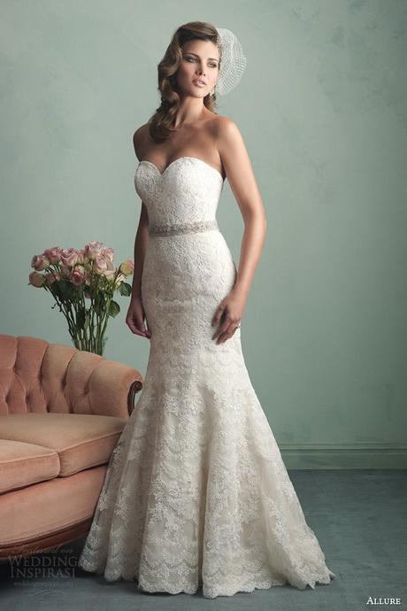Allure lace wedding dresses for Cheap allure wedding dresses