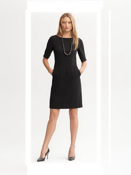 Classic Black Dress With Sleeves