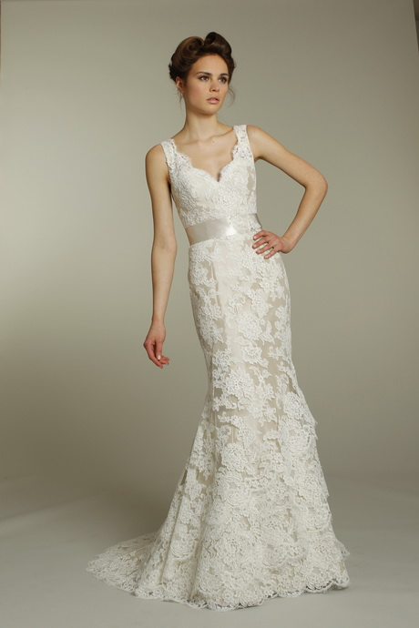 Off White Wedding Dresses : Off white lace wedding dresses
