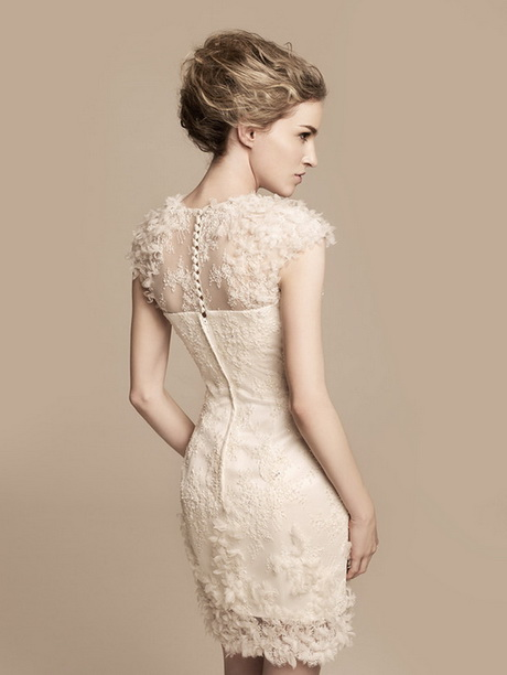 off white short wedding dresses With short off white wedding dresses