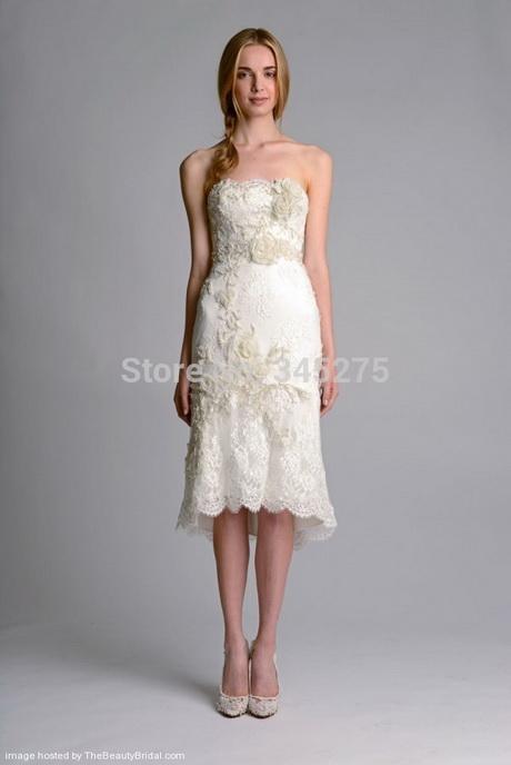 Off white short wedding dresses for Simple wedding dresses short