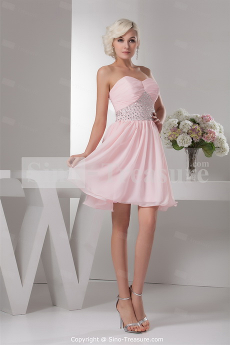 Pink Short Wedding Dresses : Pink short wedding dresses