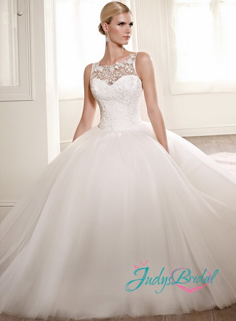 lace top ball gown wedding dresses