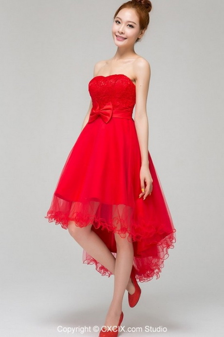 Red short wedding dresses for Red dresses for weddings bridesmaid