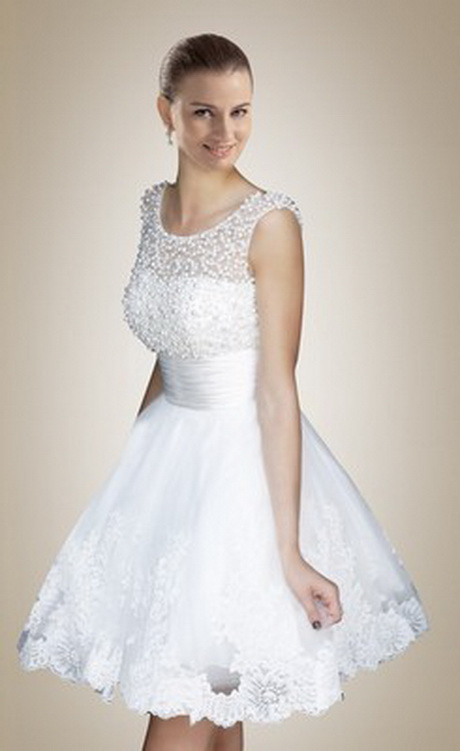 Short cute wedding dresses for Cute short white wedding dresses