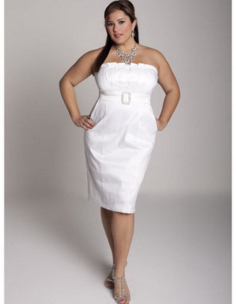Short wedding dress with pockets for Plus size dress for wedding reception