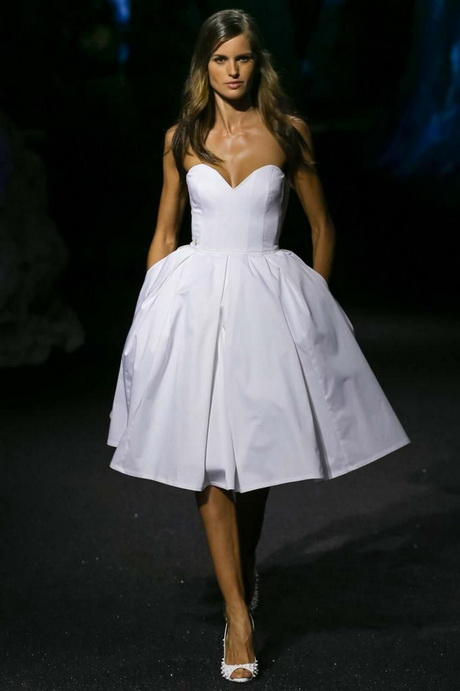 length short wedding dress with pocket taffeta beach bridal gowns 2015