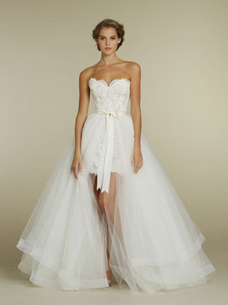 Short wedding dresses with train for Short wedding dress with removable train