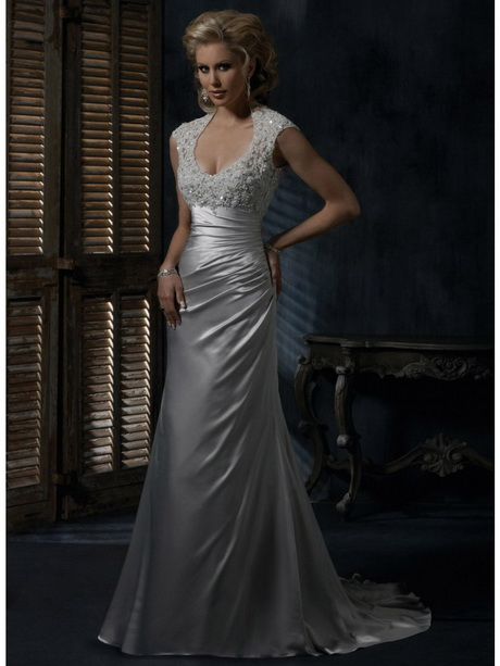 Silver lace wedding dress for Silver wedding dresses for sale