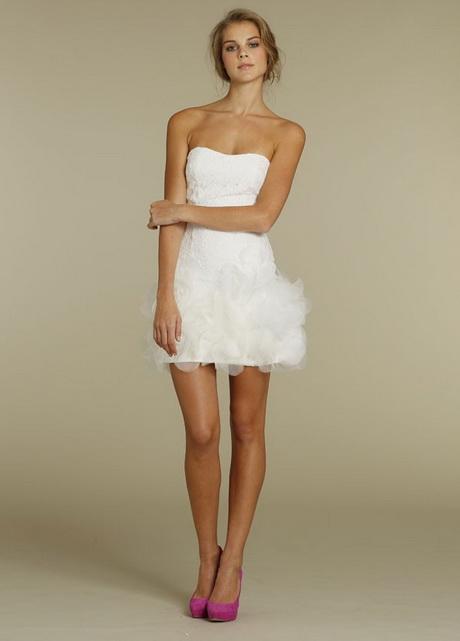 Very short wedding dresses for Short white wedding dress