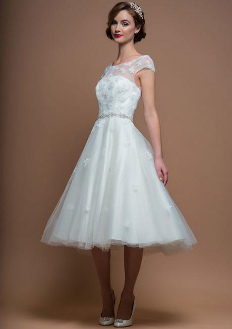 Vintage wedding dresses short for Vintage 50s wedding dresses