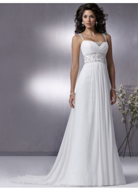 White simple wedding dresses for Plain wedding dresses with straps