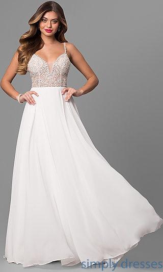 2018 white prom dresses