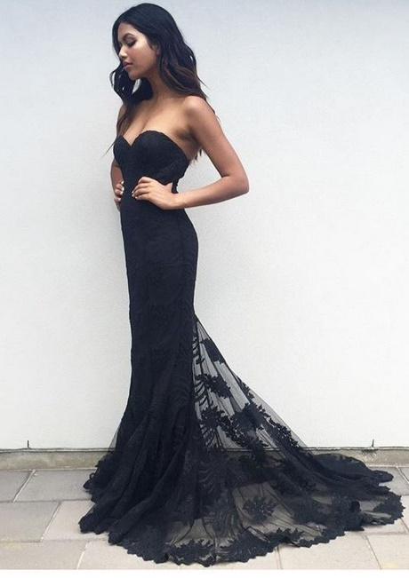 Black Fitted Prom Dresses 2018