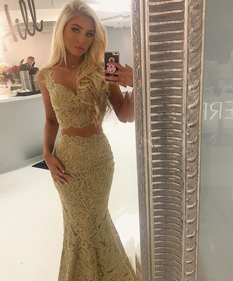 gold and white prom dresses 2018