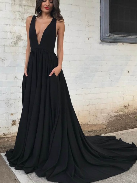 Long Black Prom Dresses 2018