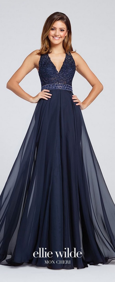 Midnight blue prom dresses 2018
