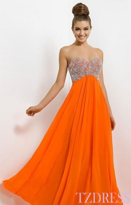 orange prom dresses 2018