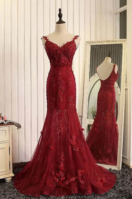Red Mermaid Prom Dresses 2018