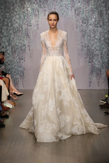 pretty wedding dresses designer ellie saab monique lhuillier 2016