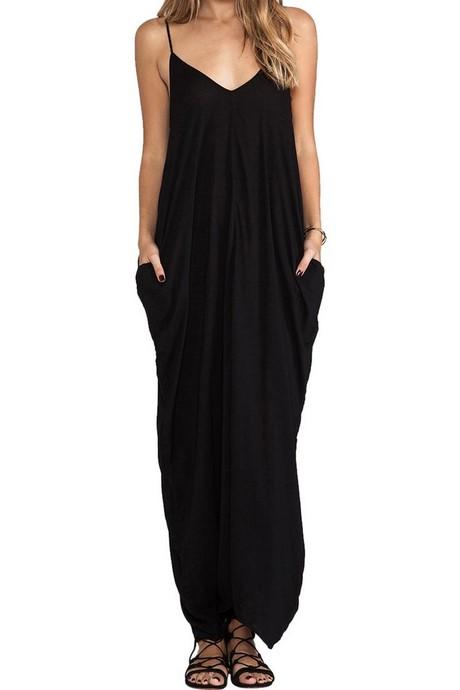 Black Casual Maxi Dress