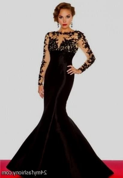 Black Lace Prom Dresses 2017
