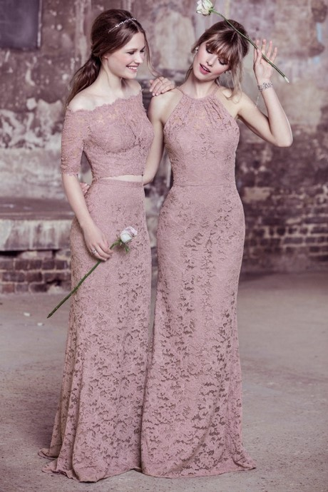 Bridesmaid dresses for 2017 for Antique rose wedding dress