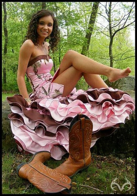 Dresses Country girls like to dress up too. Show off your country roots and look amazing in our camo prom, wedding, bridesmaid, semi-formal and formal dresses and gowns.