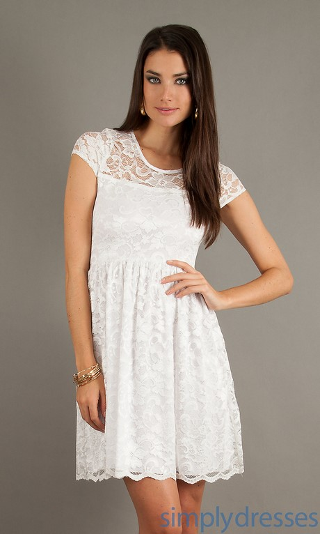 Casual White Lace Dress