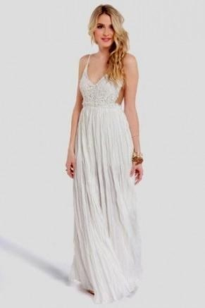 casual white long dresses