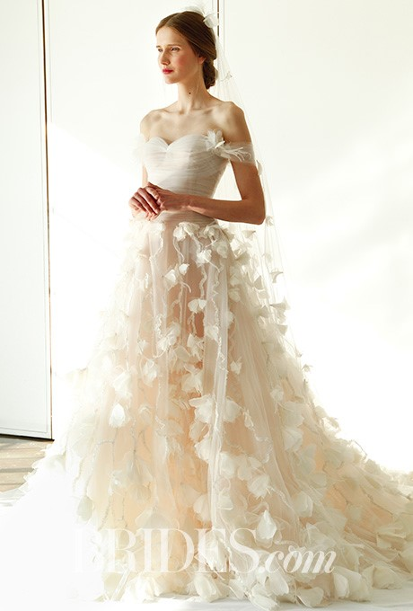 Wedding Dress Color Controversy : Spring if marchesa s fall wedding dresses