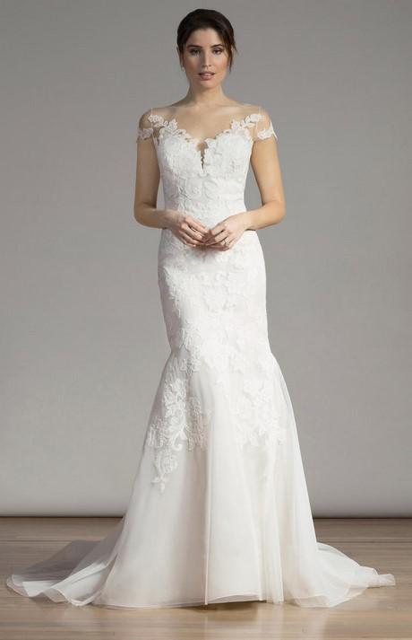 Monique lhuillier lace mermaid wedding dresses