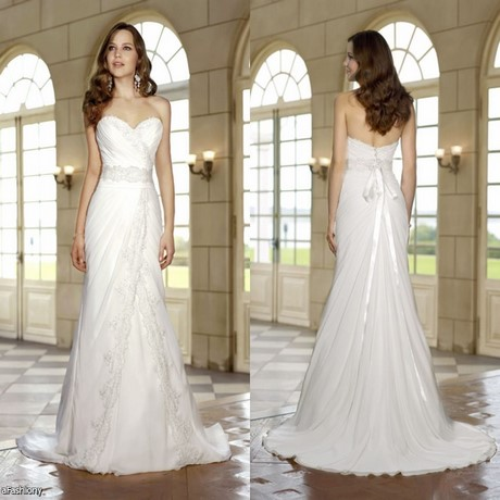 Long casual white dresses for Casual lace wedding dress