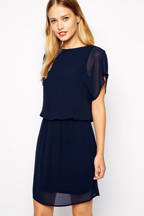 Navy blue casual dresses