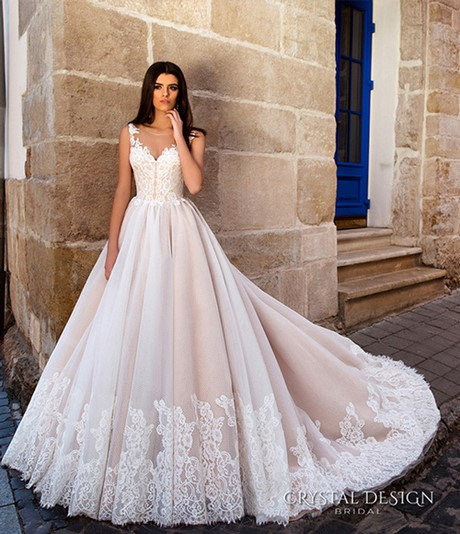 New Style Wedding Dresses 2017 In : Blush pink bridal gowns tulle french lace sheer back wedding