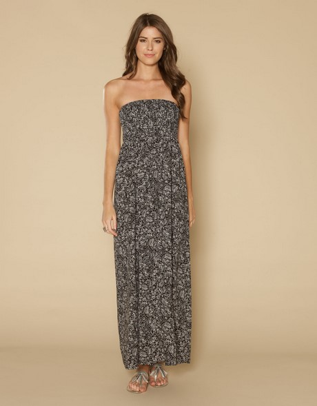 strapless casual maxi dress
