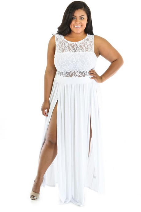 White lace maxi dress with sleeves