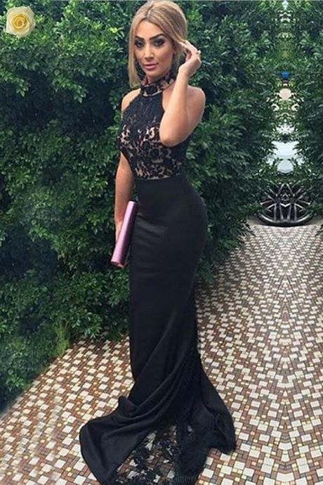 All black prom dresses 2019